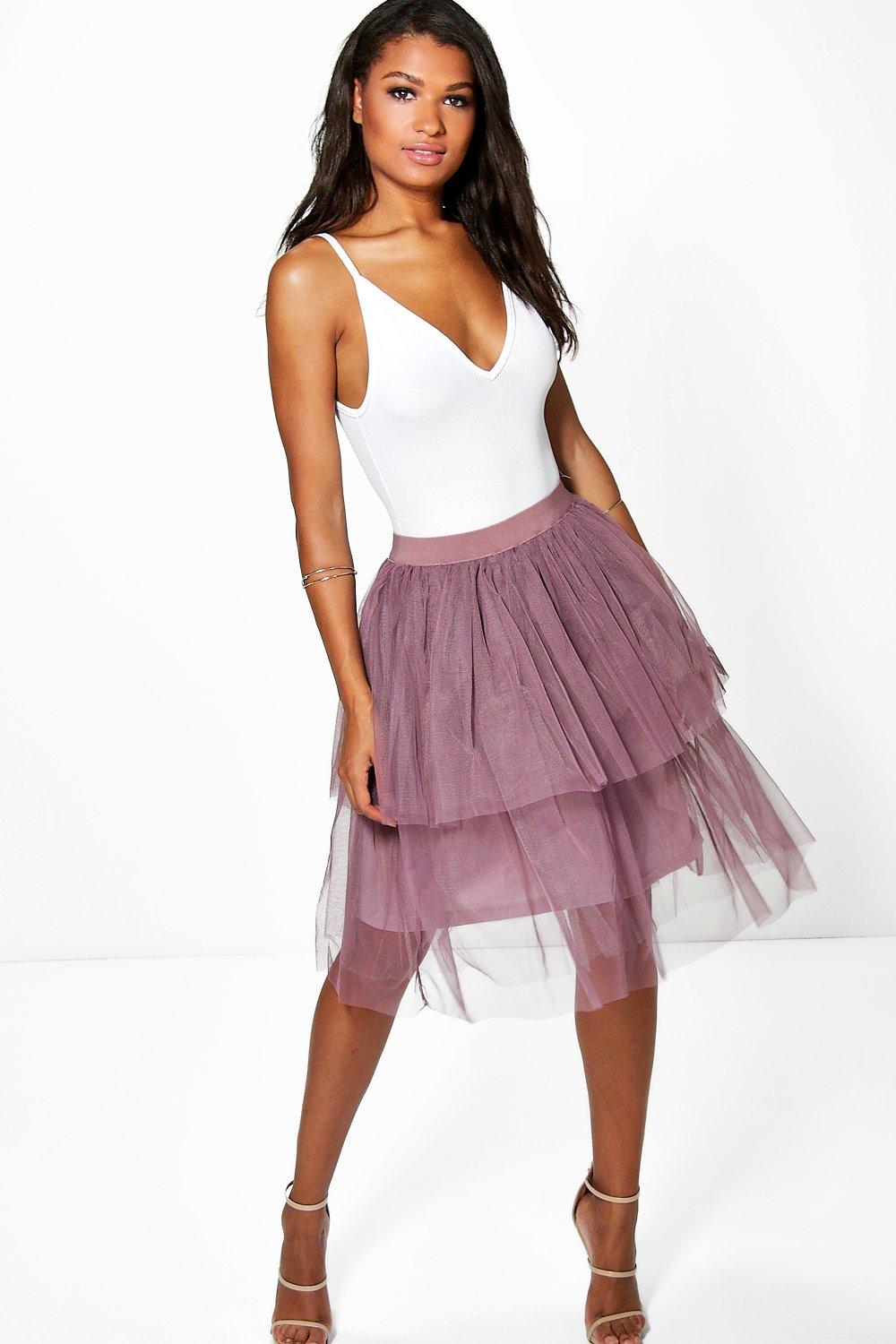 Boutique Sofie Double Layer Tulle Skirt