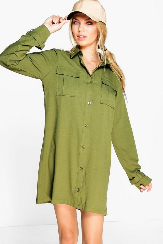 Sophia Utility Shirt Dress