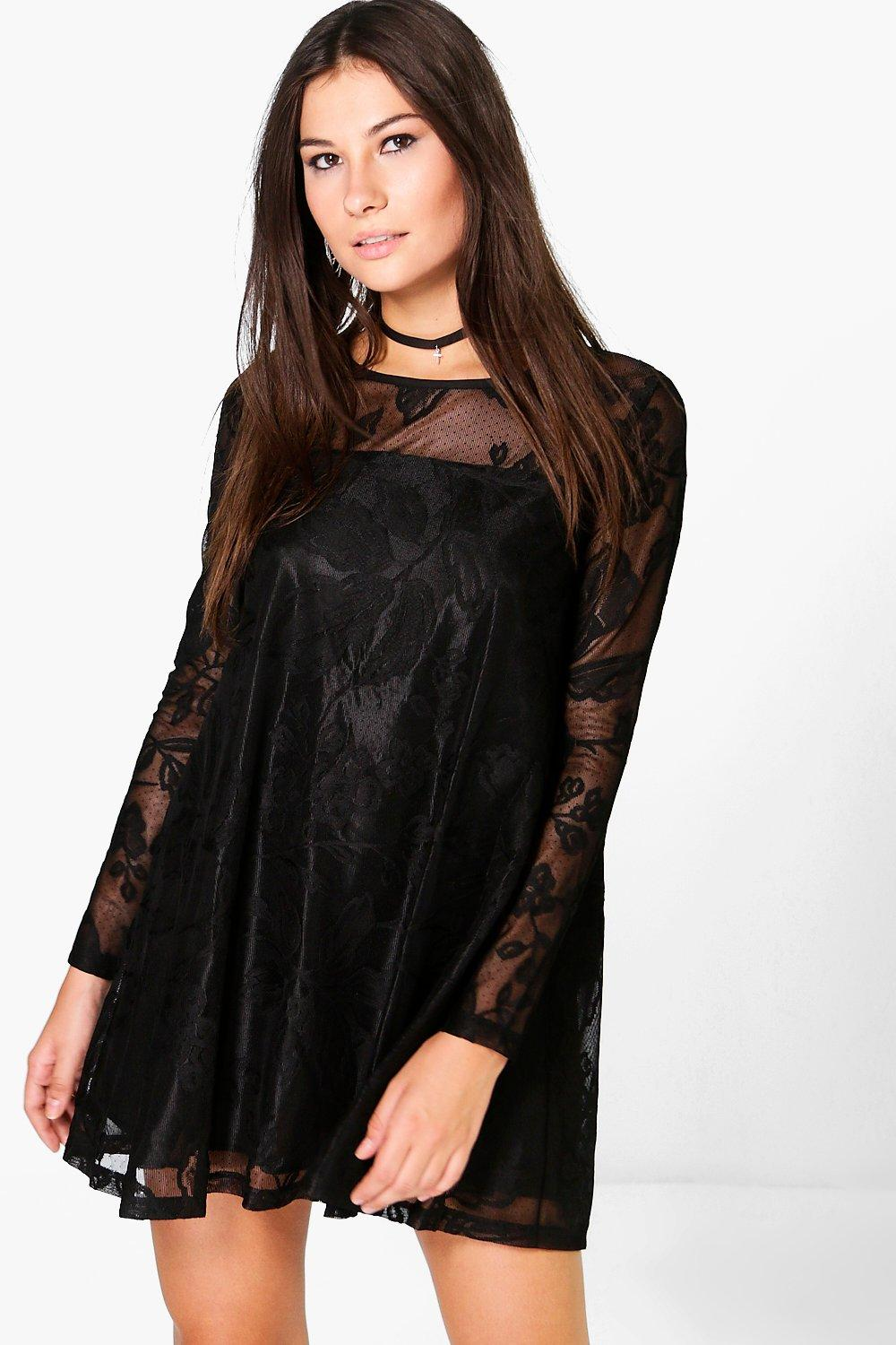 Lillyanna Lace Trapeze Dress