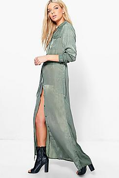 Eleanor Utility Maxi Shirt Dress