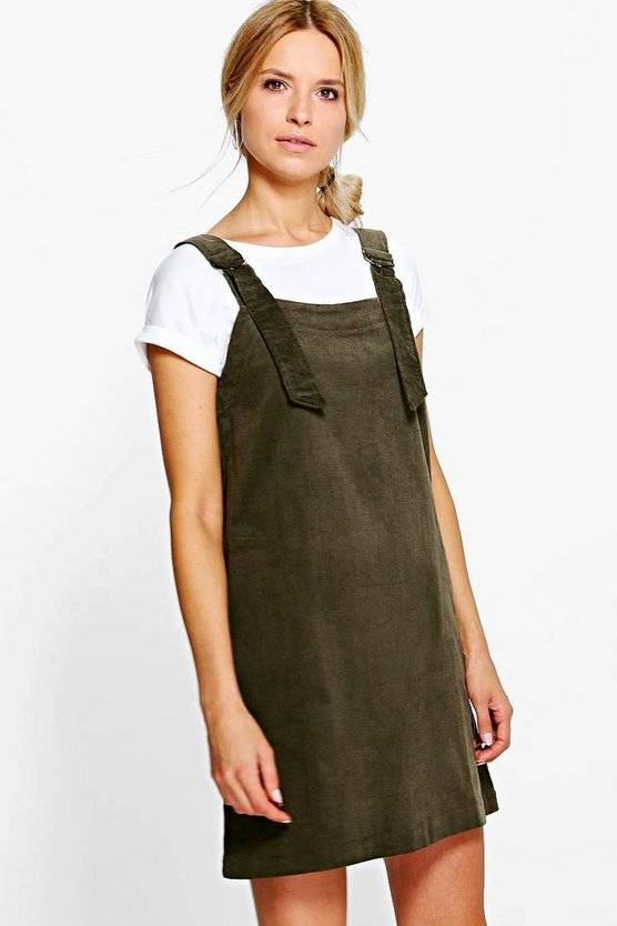 Julie Jumbo Rib D-Ring Pinafore Dress