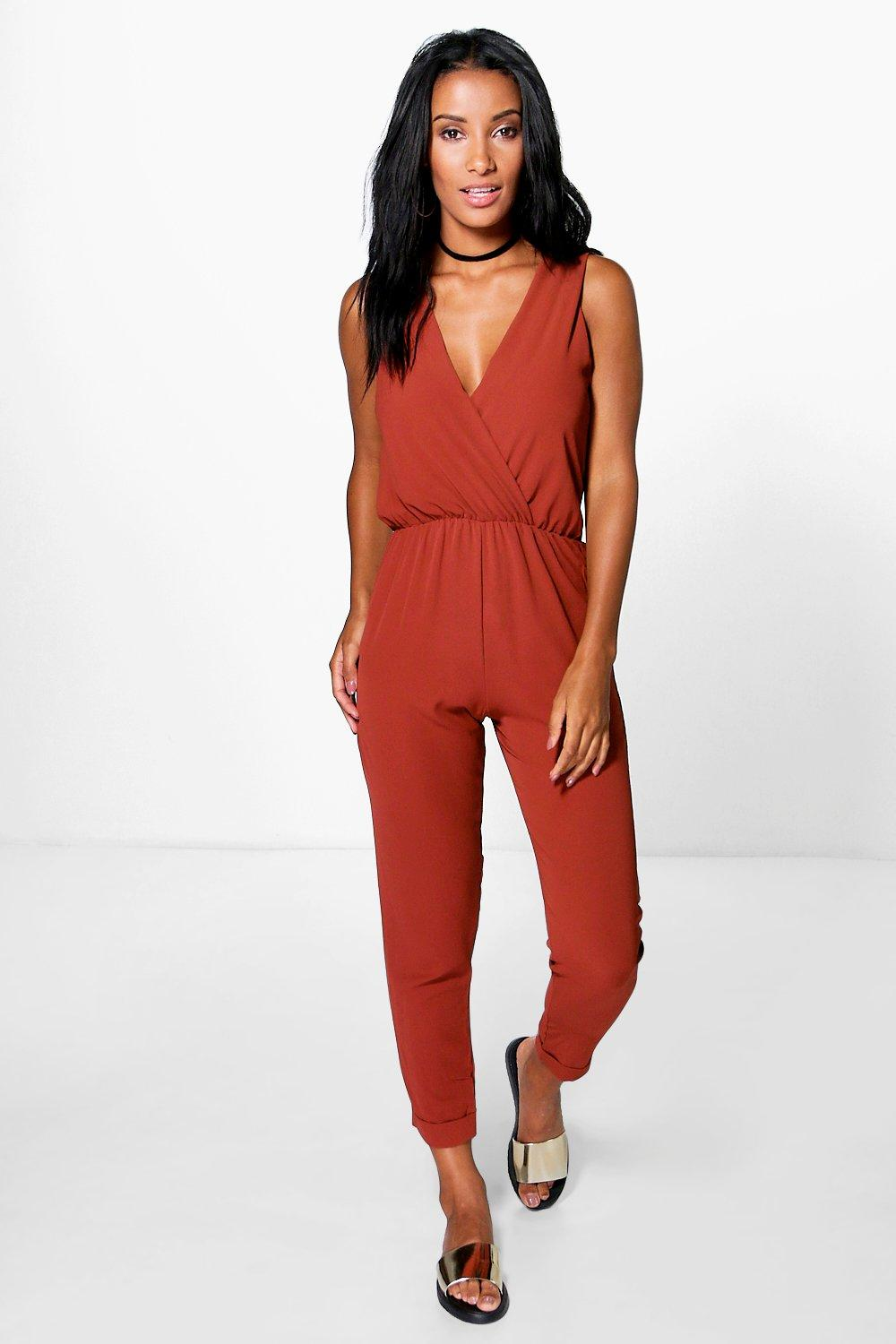 Molly Cross Front Woven Jumpsuit