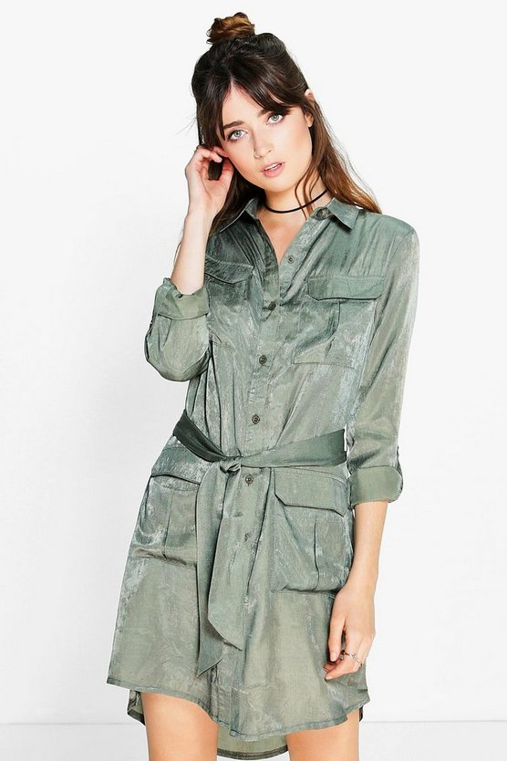 Joanie Utility Pocket Shirt Dress