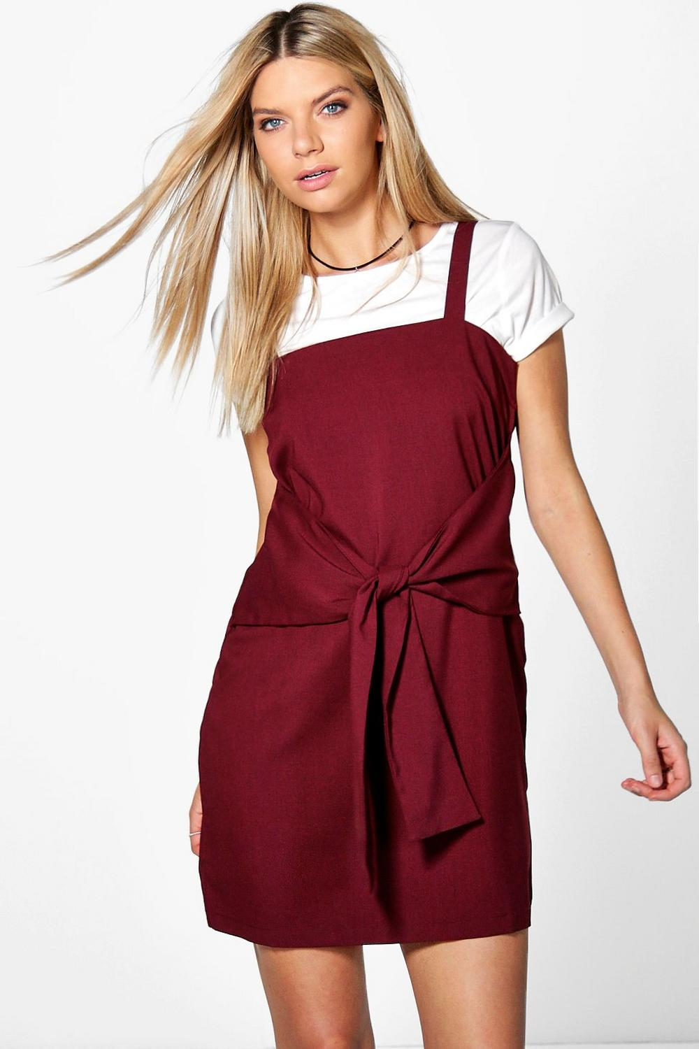 Nicole Tie Pinafore Dress
