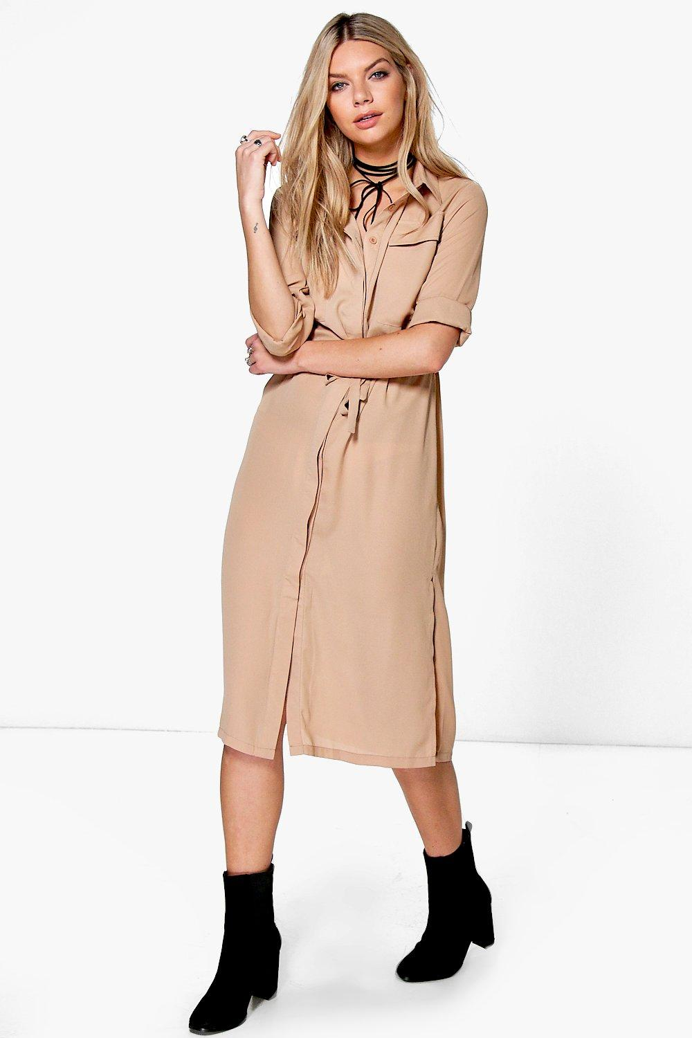 Christiana Utility Midaxi Shirt Dress