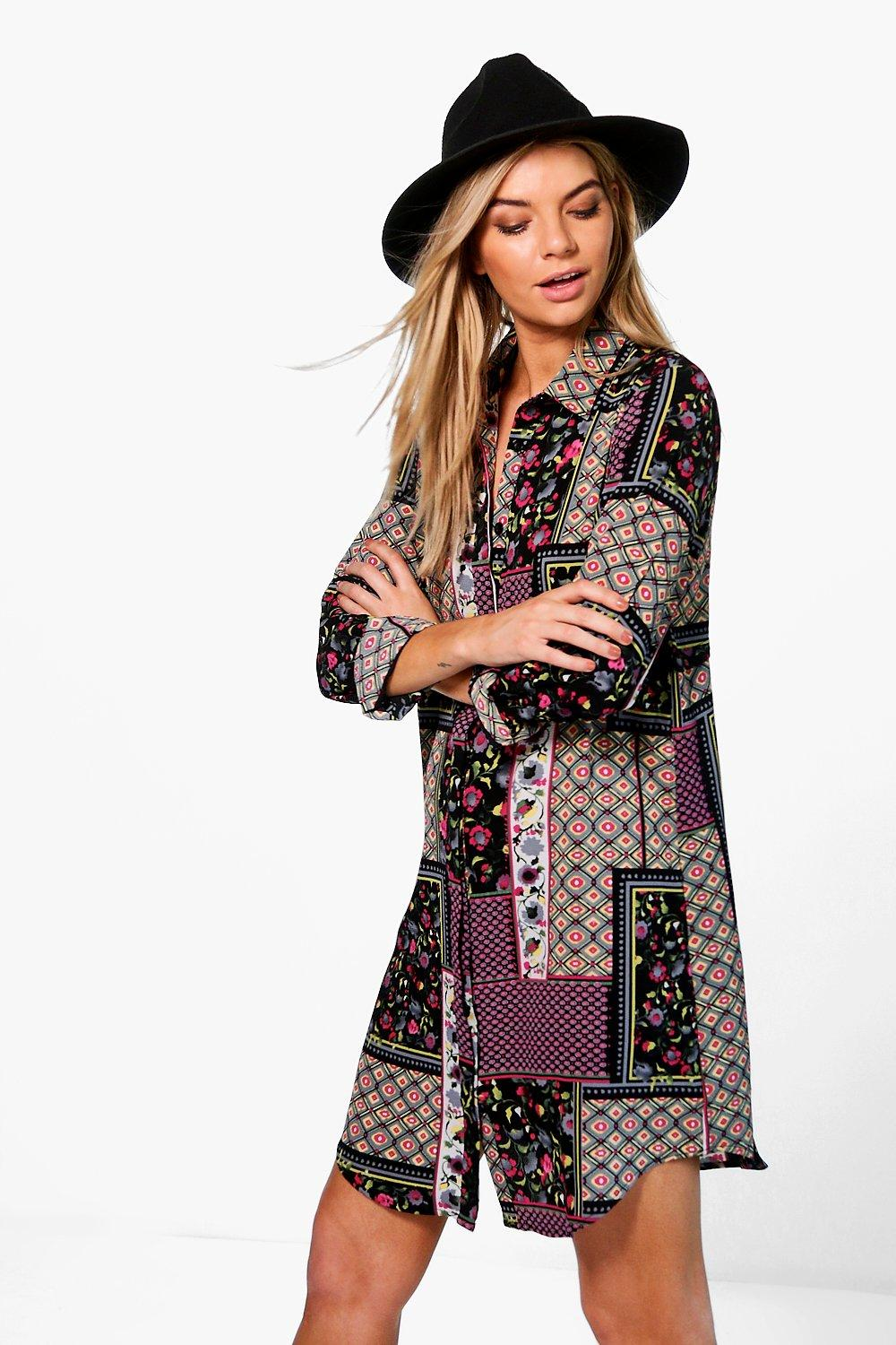 Arianna Floral Scarf Print Dress