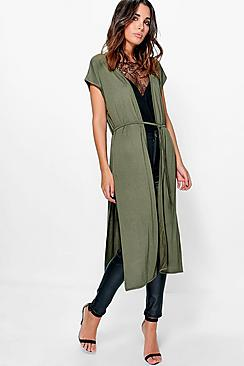 Leah Sleeveless Belted Duster