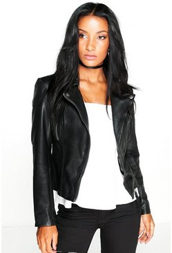 Boutique Bethany Leather Biker Jacket