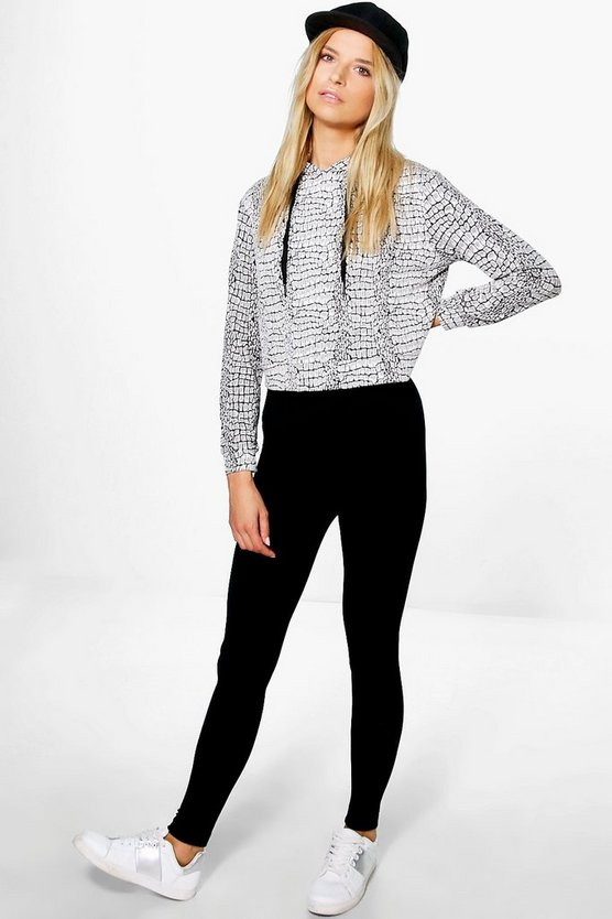 Harper Textured Waistband Fleece Lined Leggings