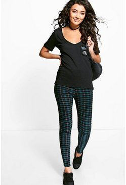 Madison Tonal Tartan Check Disco Leggings