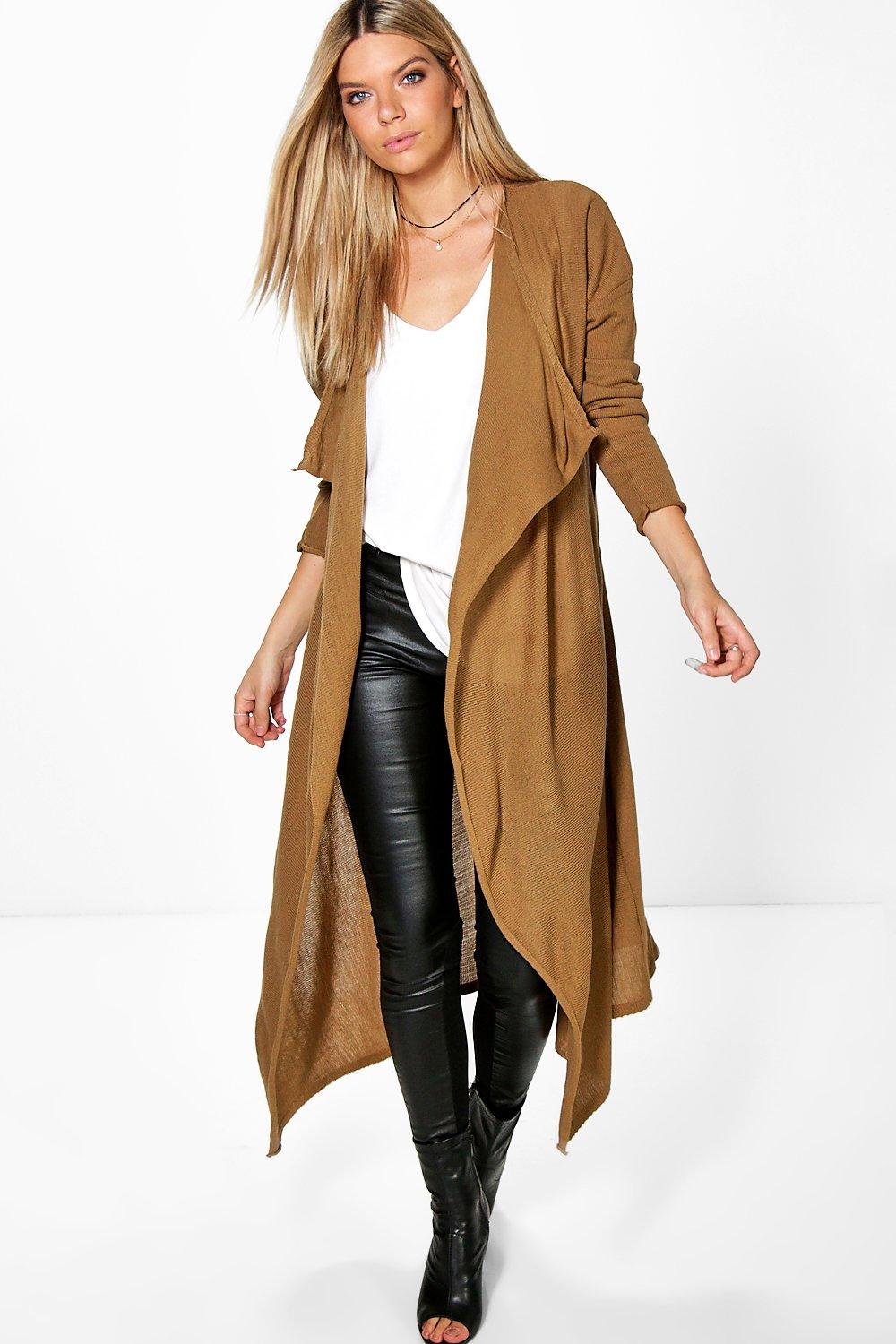 Natalie Waterfall Duster Cardigan | Boohoo