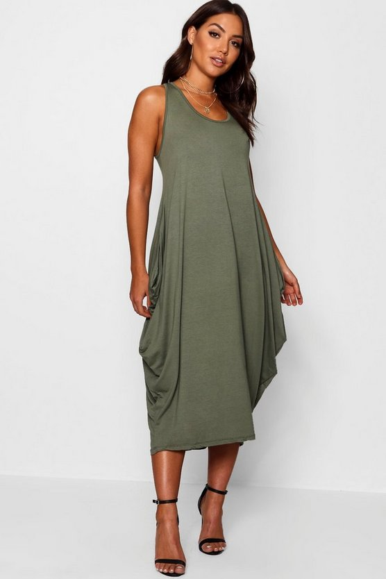 Georgie Racer Back Ruched Maxi Dress