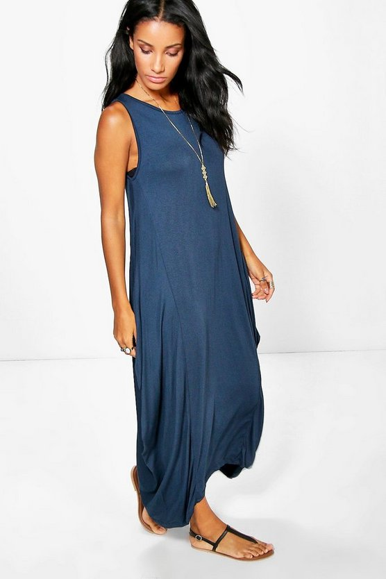 Harlie Round Neck Maxi Dress