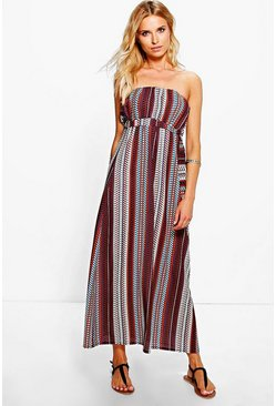 Lea Printed Maxi With Belt