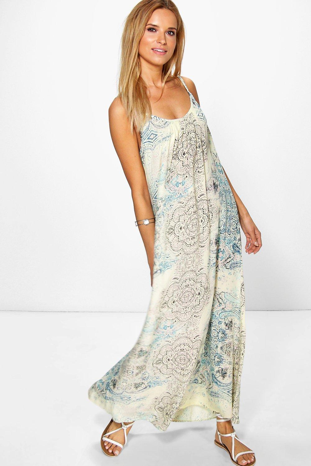 Claudia Printed Paisley Maxi Dress