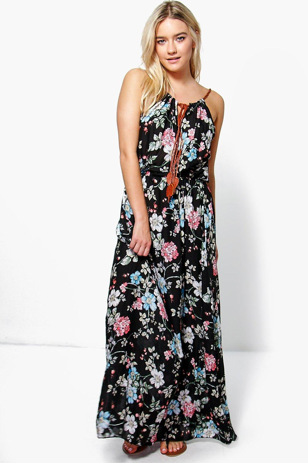 Julia Floral Printed Maxi Dress