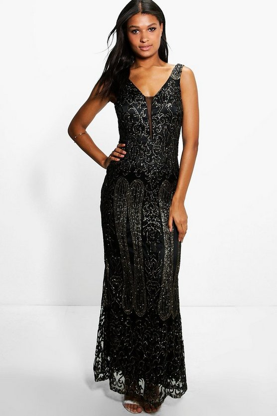 Boutique Joan All Over Embellished Maxi Dress