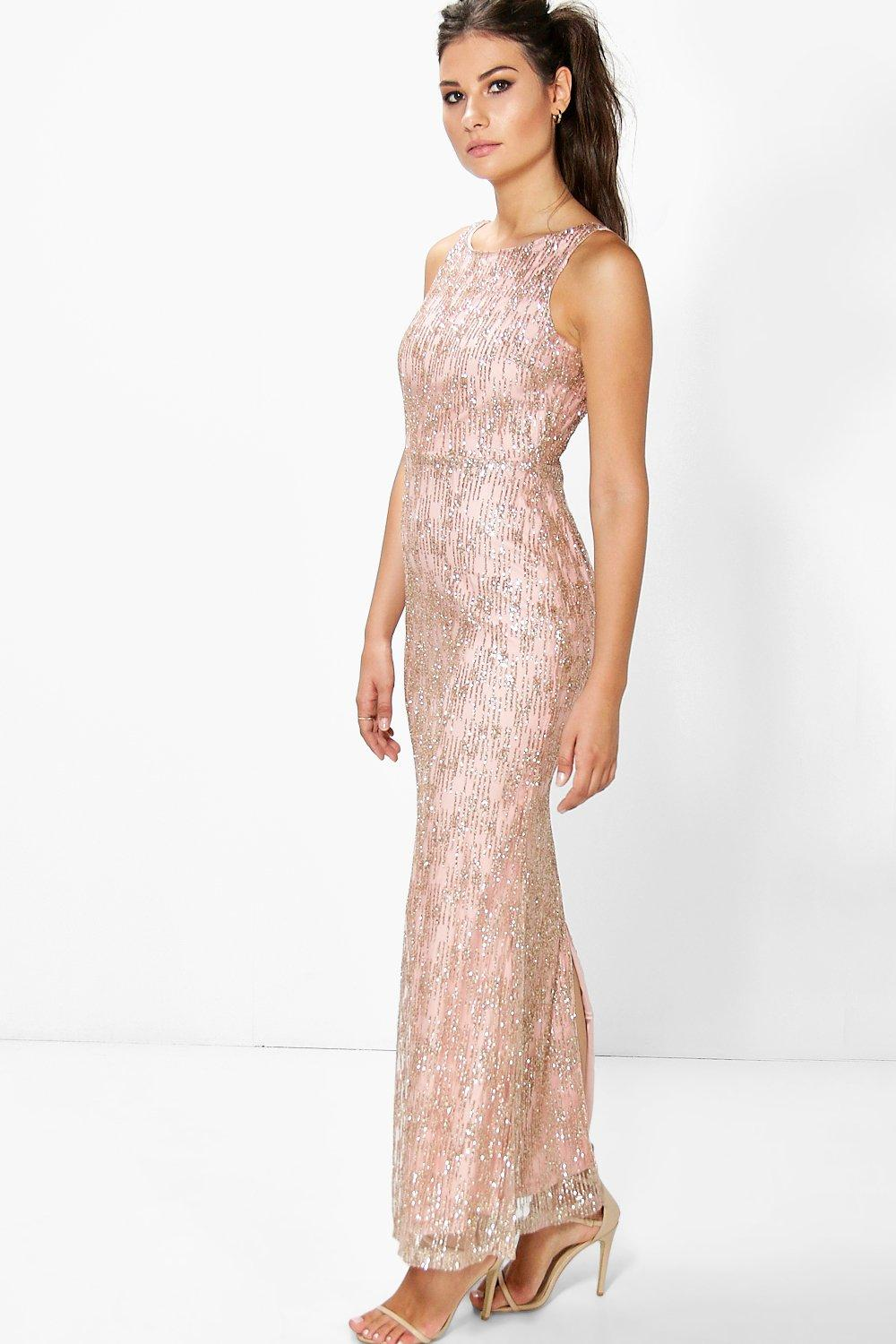 Boutique Cher All Over Embellished Maxi Dress