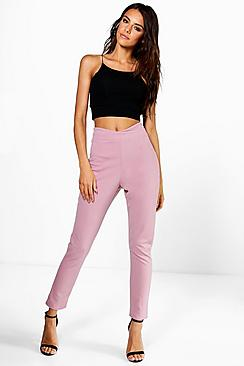Naia Wrap Waist Stretch Crepe Skinny Trousers