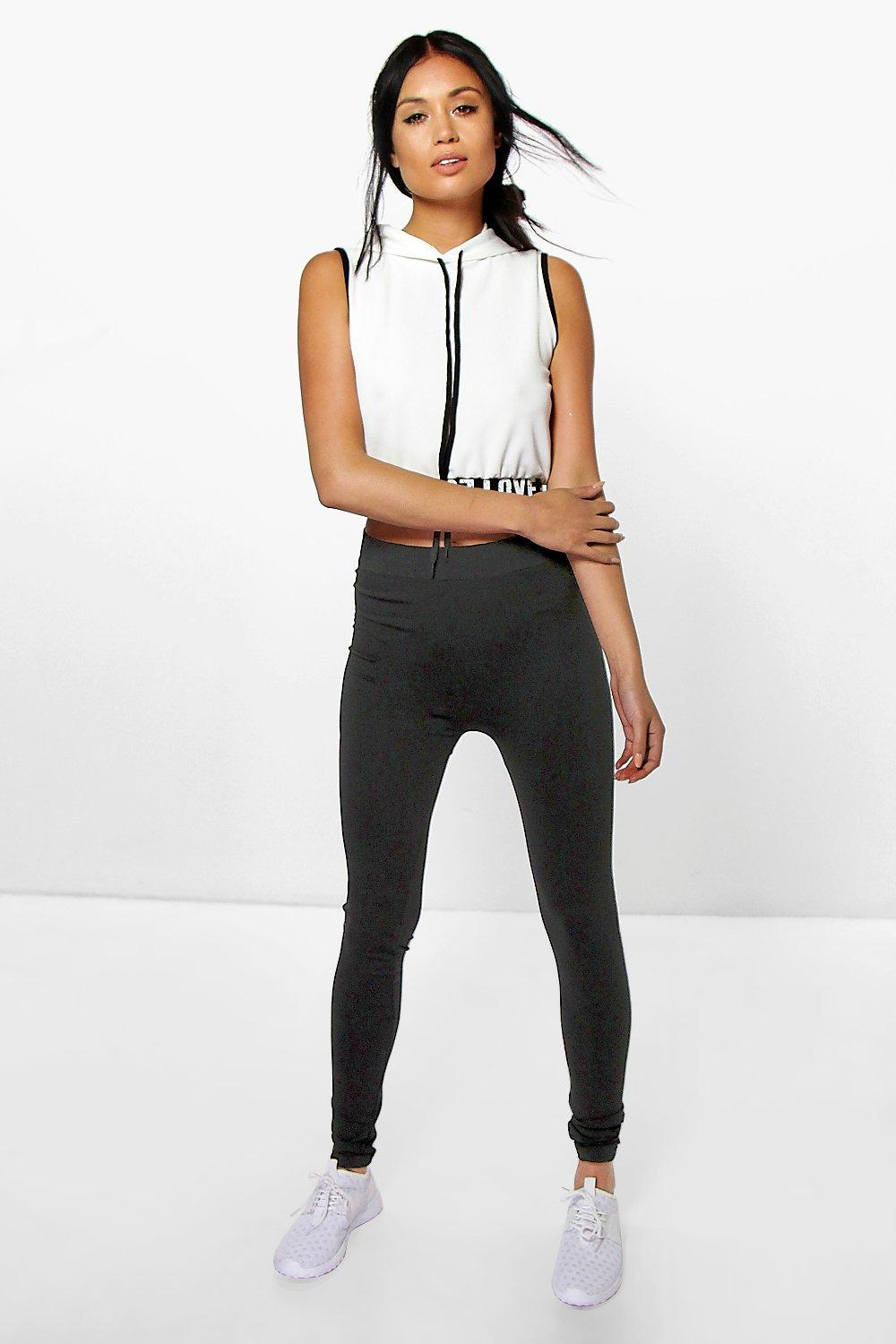 Valencia Basic Seamless High Waist Leggings black