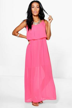 Sophina Frill Top Maxi Dress
