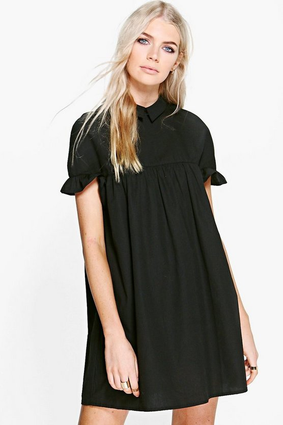Mia Ruffle Sleeve Shirt Dress