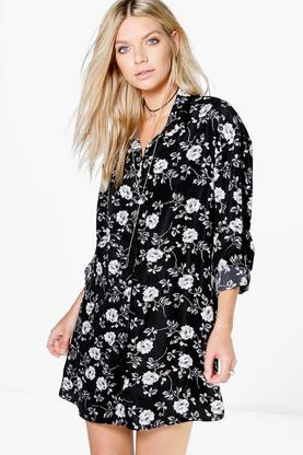 Leonie Floral Printed Shirt Dress