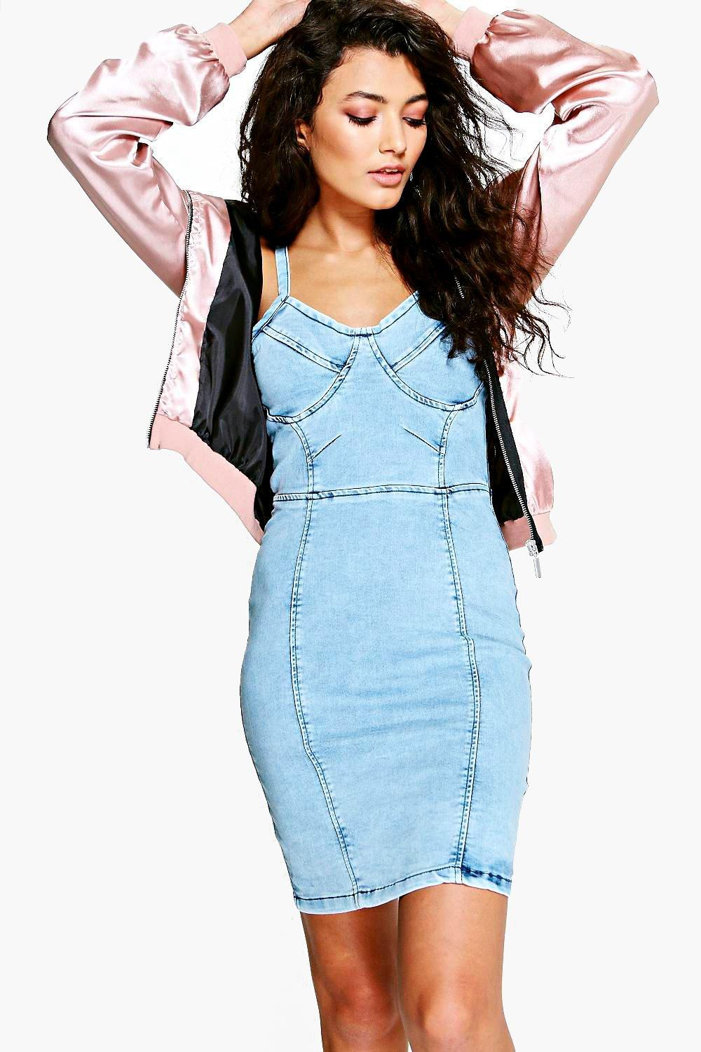 Billie Bodycon Denim Dress