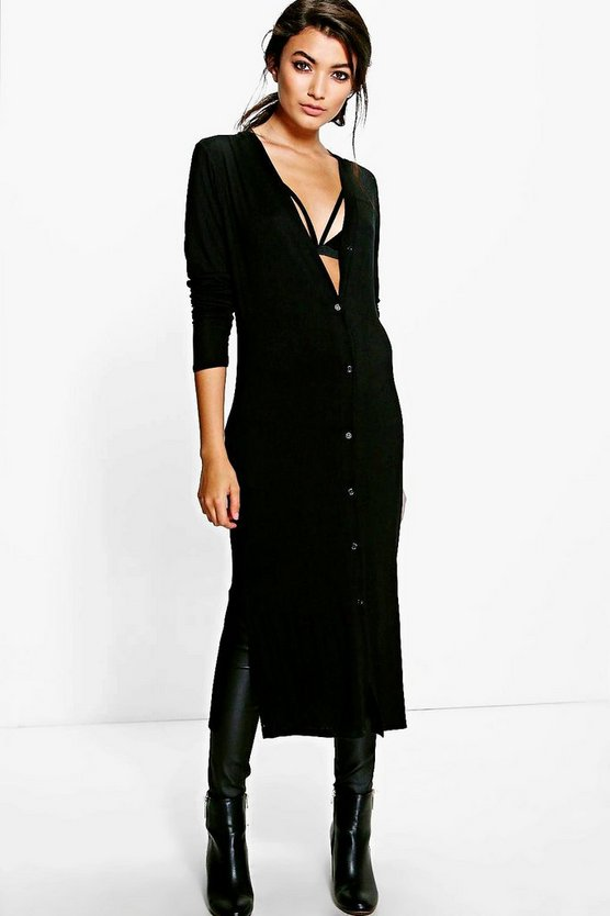 Catherine Jersey Button Up Lightweight Duster