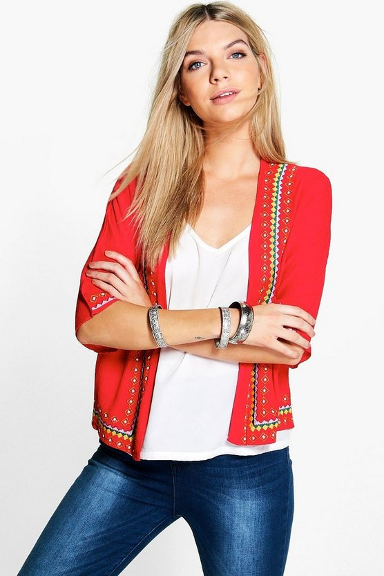 Maya Embroidered Trophy Jacket