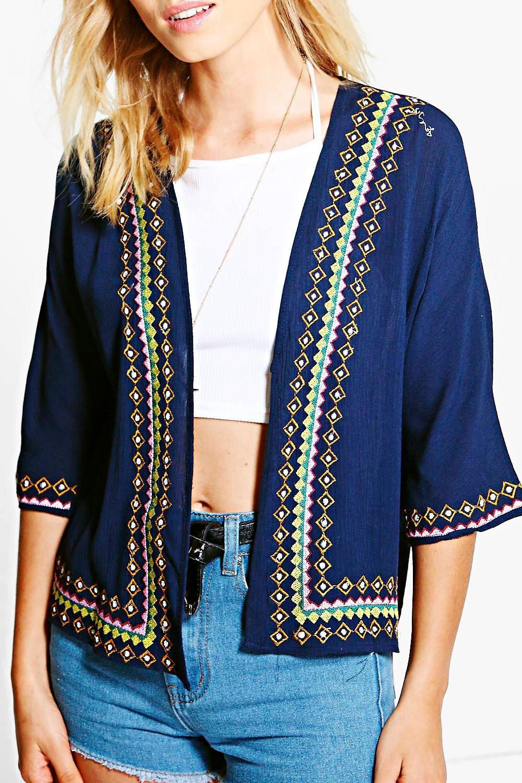 Boohoo womens maya embroidered trophy jacket ebay