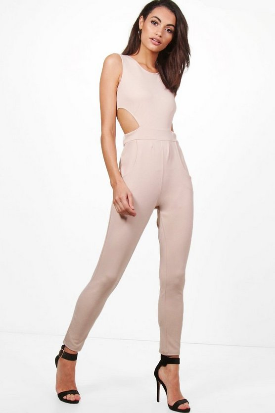 Lottie Side Cut Out Skinny Leg Jumpsuit