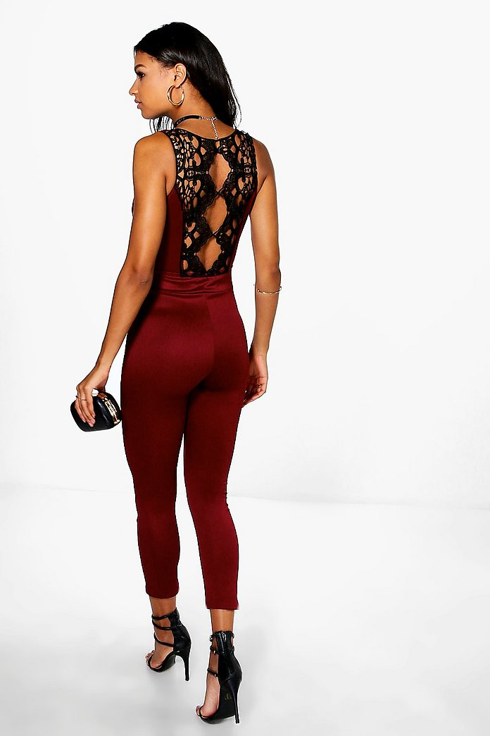 Lucy Statement Back Skinny Leg Jumpsuit