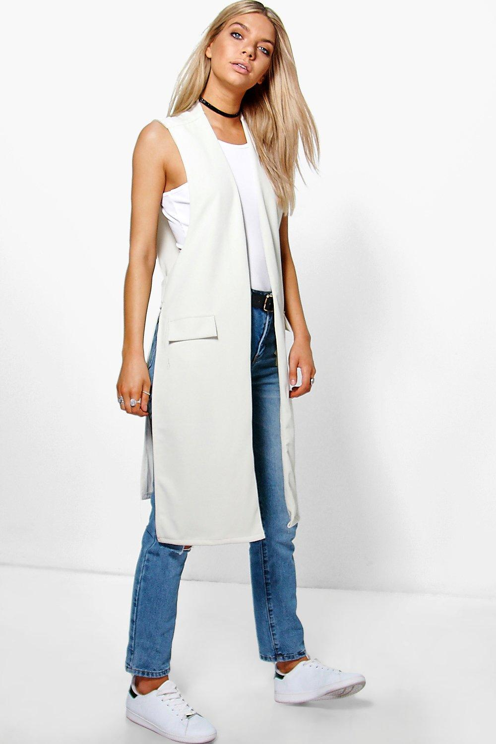 Nicole Sleeveless Tab Back Duster
