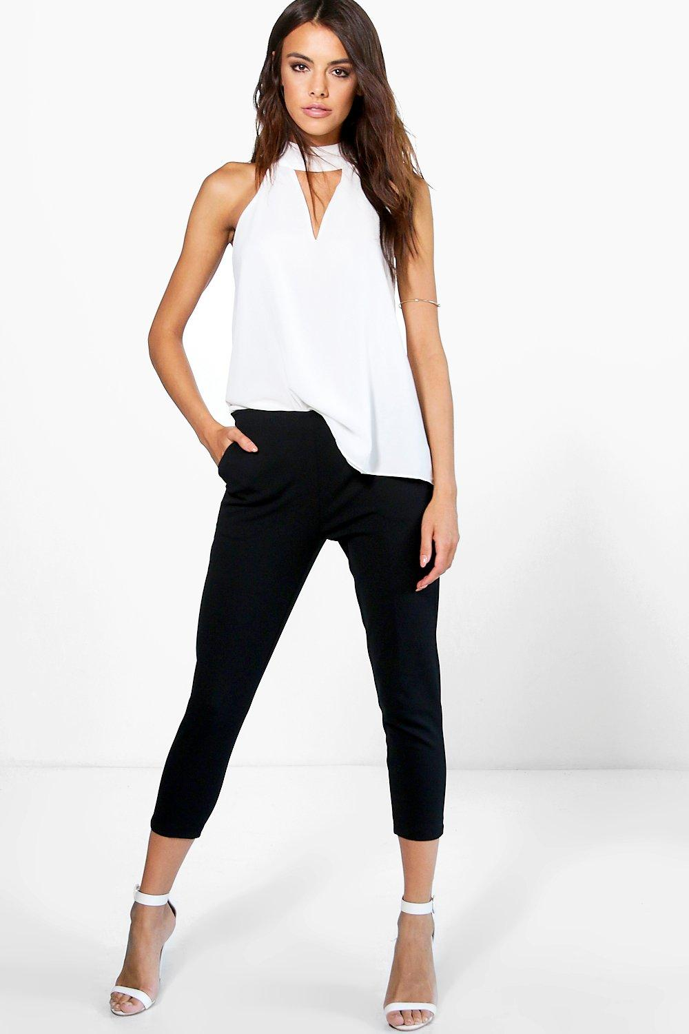 Katie Zip Side Crop Ankle Trouser