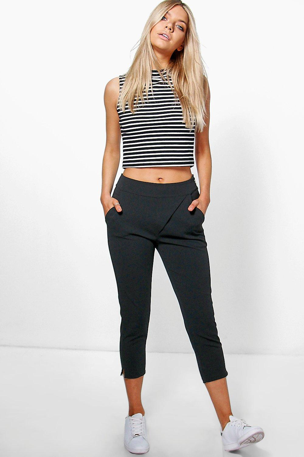 Emily Wrap Front Ankle Crop Trouser