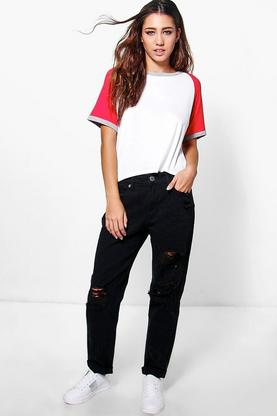 Maisie High Waisted Ripped Mom Jeans