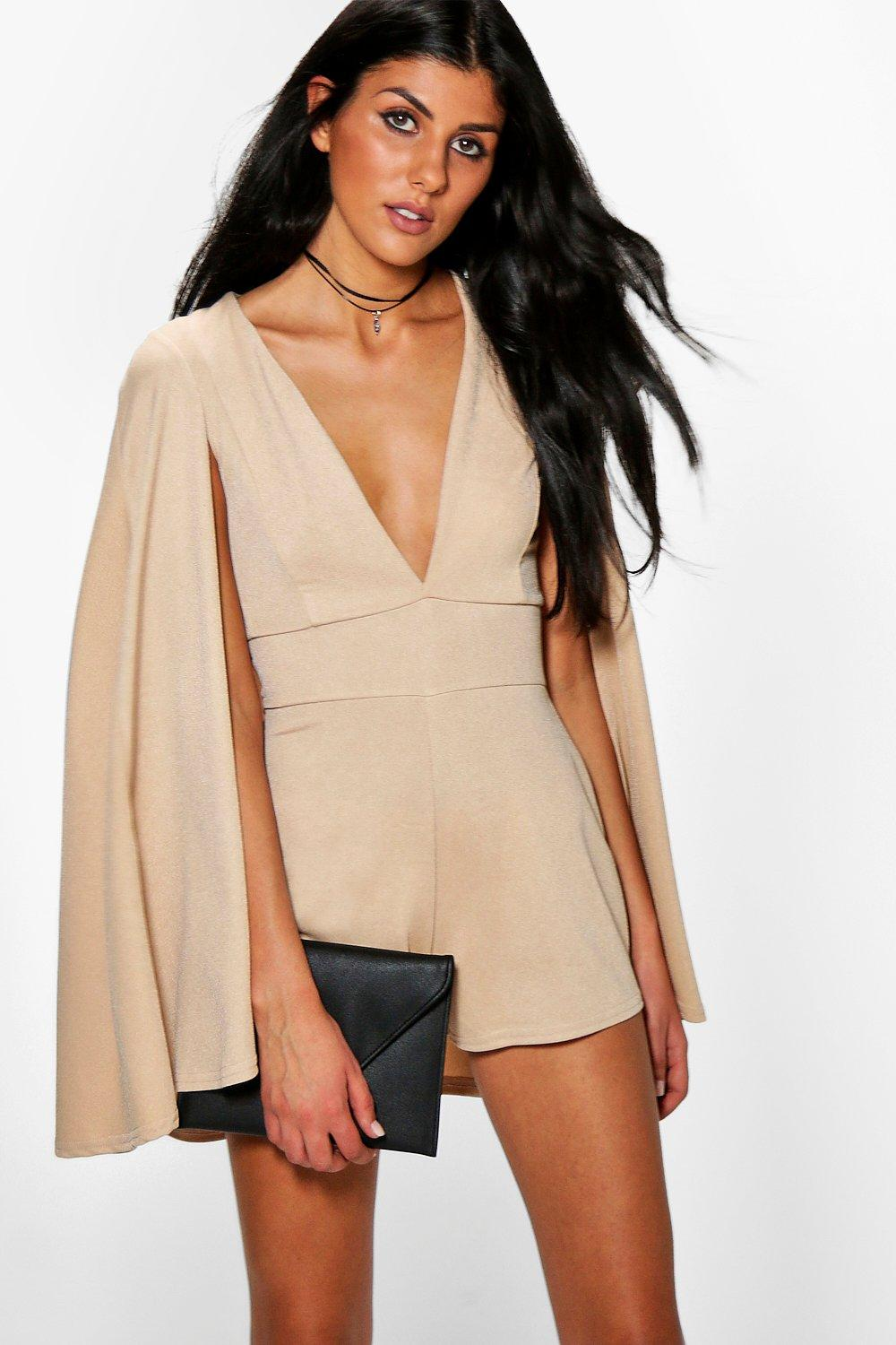 Selena Cape Style Playsuit