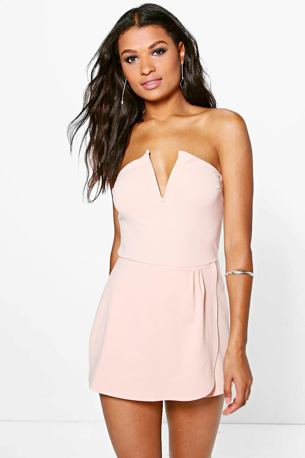 Barley Bandeau Wrap Over Skort Playsuit