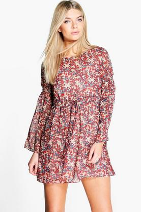 Florence Floral Tie Waist Dress