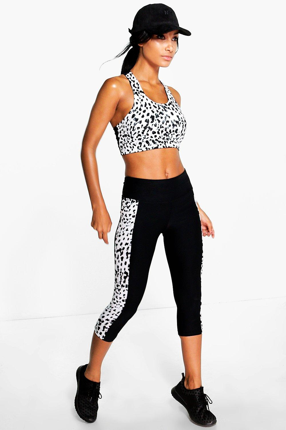 Emily Spot Side Panel Performance Running Legging