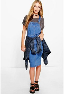 Alice Denim Dungaree Pinafore Dress
