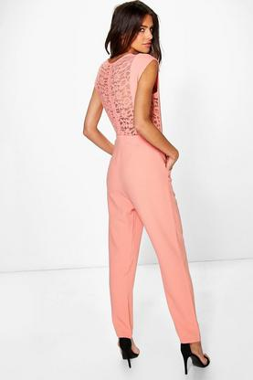 Lottie Lace Back Woven Jumpsuits