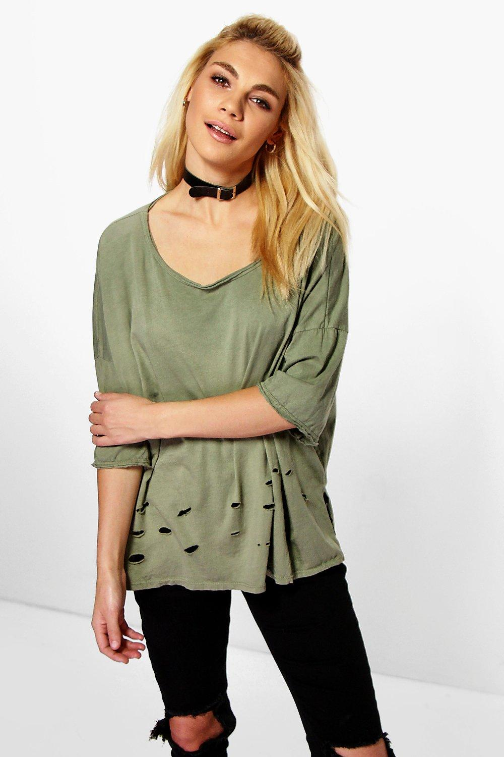 Becca Distressed Detail Tee