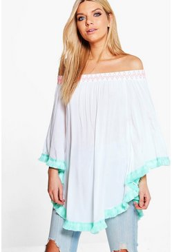 Niamh Boutique Tassel Trim Top
