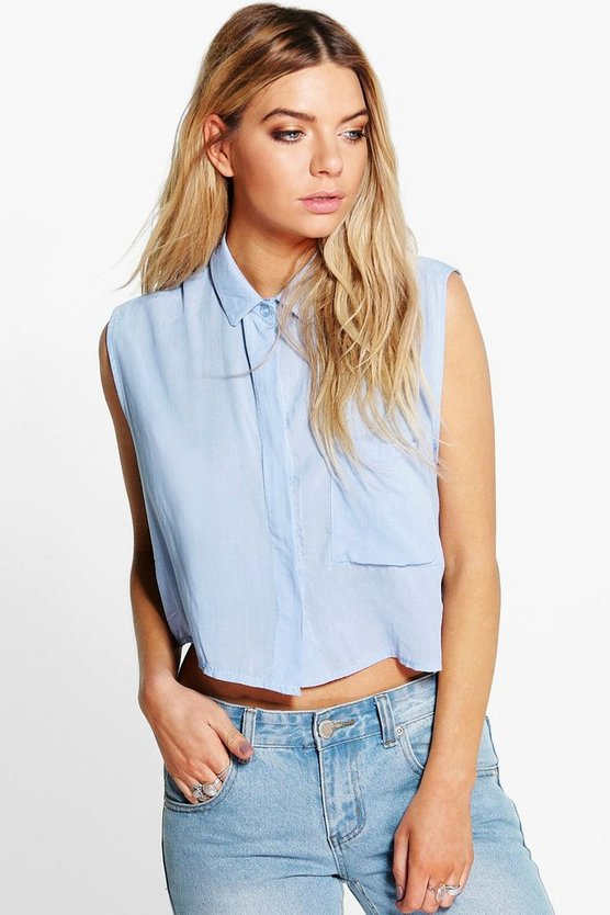 Lola Crop Sleeveless Shirt