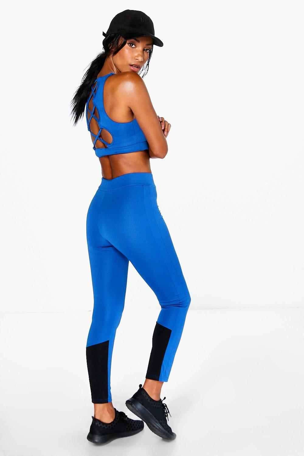 Libby FIT Performance Running Leggings blue