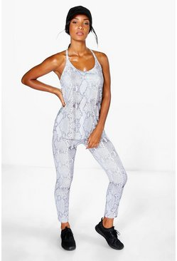 Keira Fit Snake Print Performance Legging