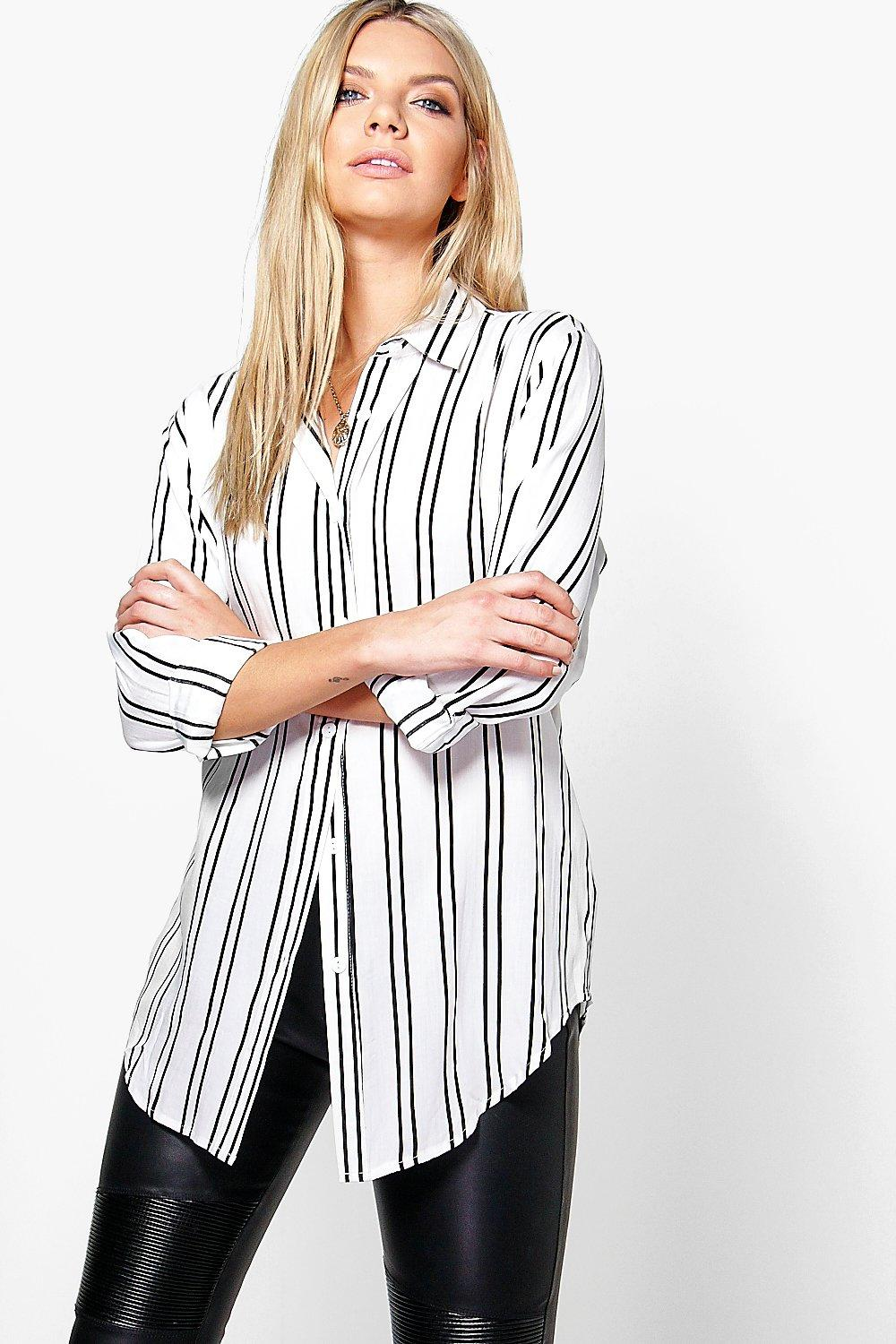 Alexandra Striped Oversized Long Sleeve Shirt