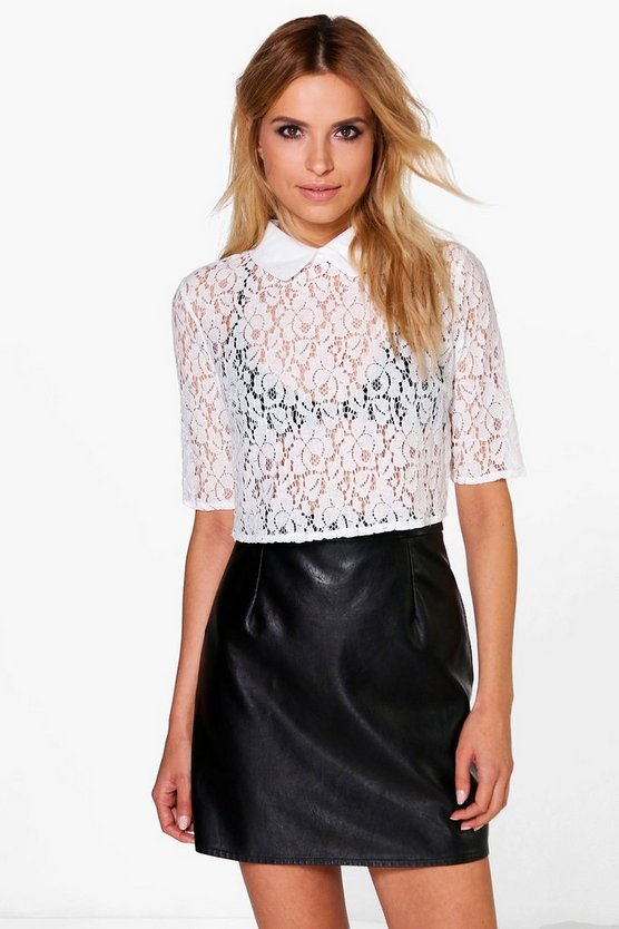 Rose Crop Lace Shirt